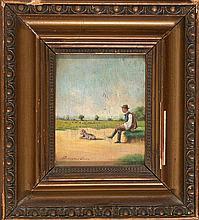Imre Perlmutter Hungría 1892 - Budapest 1935 Personajes Pareja de óleos sobre tabla
