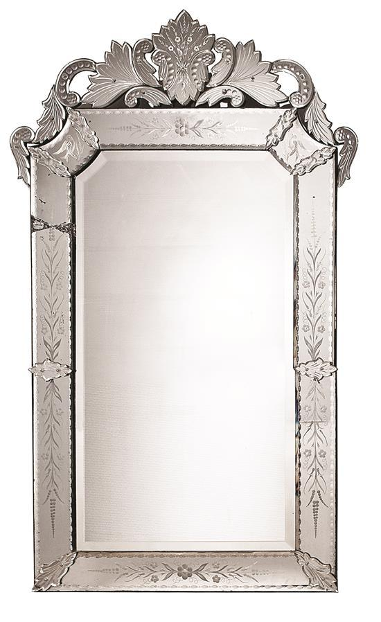 Venice type big mirror with engraved mirrors frame late 19t for Types of mirror frames