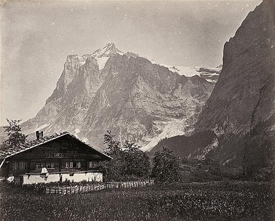Adolphe Braum 1812-1877 Álbum Vistas de Suiza compuesto por 27 fotografías, 1860-1870 27 papeles albuminados, imágenes 16 x 19 cm, á...