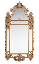 Regency-style mirror with frame in gilded wood and stucco, circa 1930