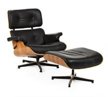After Charles and Ray Eames Saint Louis, Missouri 1907 - Los Angeles 1978 Chaise longue with ottoman
