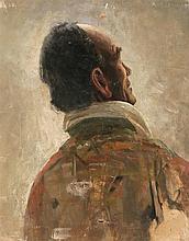 """Salvador Viniegra Cádiz 1862 - Madrid 1915 Priest (figure's study for """"La bendición de los campos en 1800"""")"""