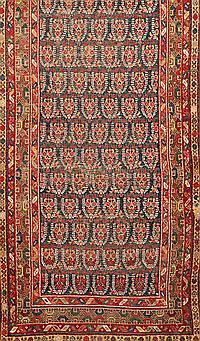 Persian corridor rug, late 19th century, Slight wear and tear , 400x92 cm