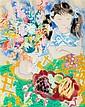 Emili Grau Sala, Barcelona 1911-Sitges 1975 , Interior, Gouache on paper, Signed , 63x49.5 cm