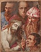 Attributed to the Spanish school of the 17th century, , The Mocking of Christ, Gouache on paper, 10x8.2 cm