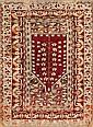 Persian wool prayer rug, 19th century, Damaged, 143x95 cm