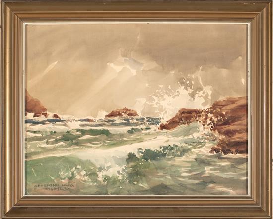 Ceferino Olivé Reus 1907 - 1995 Seascape and landscape