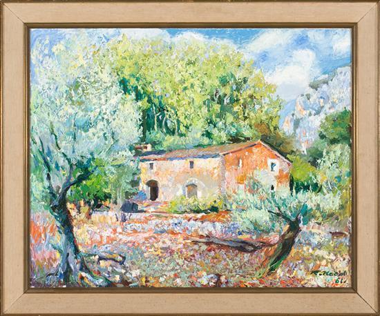 Ramon Nadal Horrach Palma de Mallorca 1913 - 1999 Landscape from Mallorca