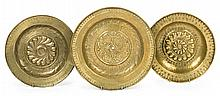 Three collection plates from Dinand or Nuremberg, 16th Century