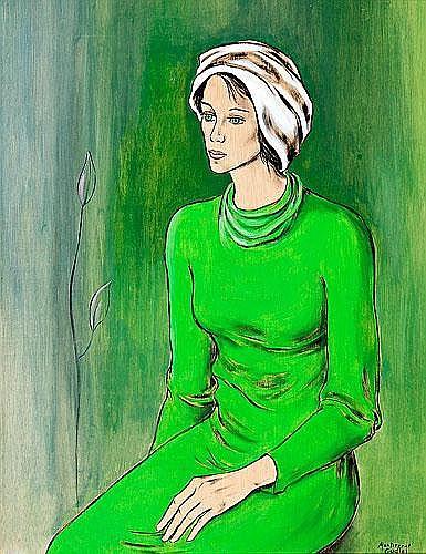 Montserrat Gudiol (Barcelona, 1933) Una joven (A