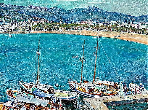 Josep Amat Pagès (Barcelona, 1901-1991) Playa de
