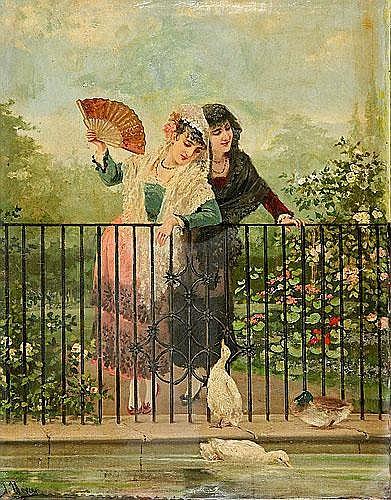 José Llovera Bofill (Reus, 1846-1896) Jóvenes con