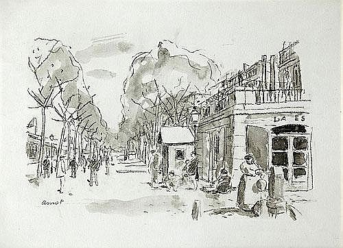Josep Amat Pagès (Barcelona, 1901-1991) Una calle