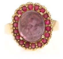 Central ruby and spinel ring