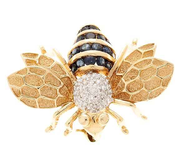 Broche en forma de abeja