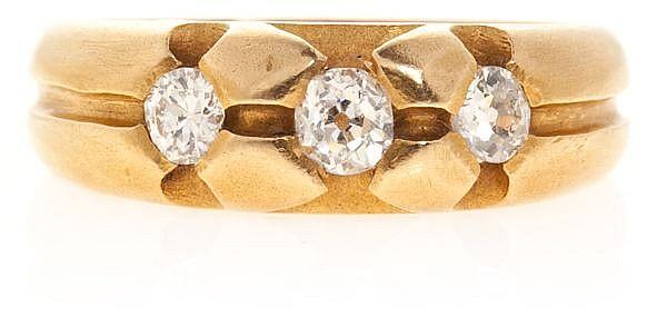 Sortija tresillo de diamantes