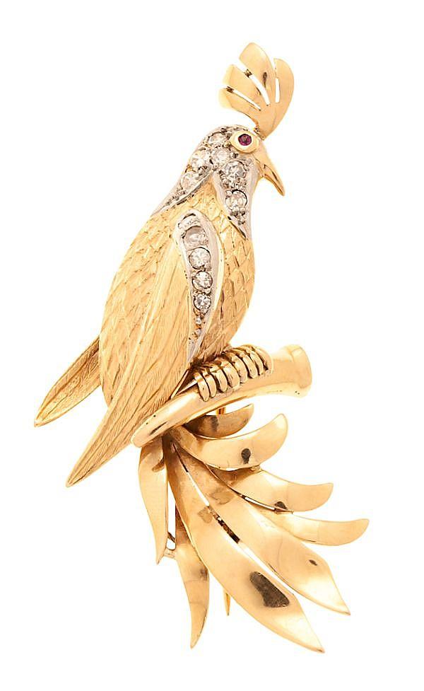 Broche en forma de pájaro