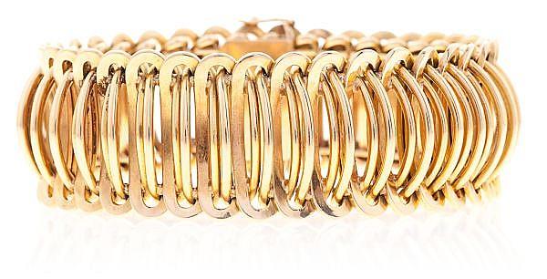 Pulsera de eslabones de oro