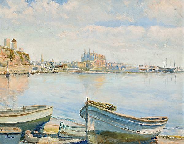 Joan Fuster Bonnin Palma de Mallorca 1870 - 1943 Palma de Mallorca viewOil on canvasSigned  47x61,3 cm