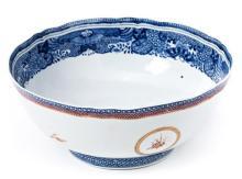 Cuenco chino en porcelana de Compañía de Indias, del siglo XVIII