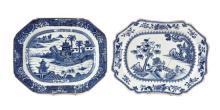 Dos fuentes chinas en porcelana, del siglo XVIII