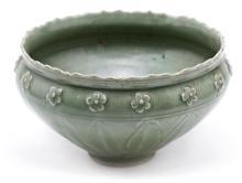 Cuenco chino Ming en porcelana celadón, del siglo XVII