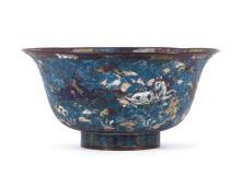 Centro chino estilo Ming en cobre esmaltado en