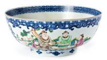 Cuenco chino Qianlong en porcelana de Compañía de Indias, del siglo XVIII