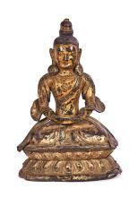 Chinese Tibetan Buddha in gilt bronze, 18th Century
