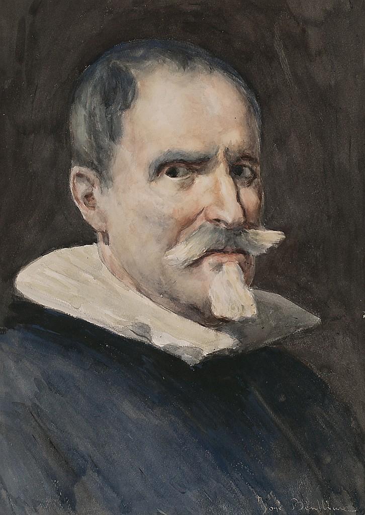 José Benlliure Gil Valencia 1855 - 1937 Portrait of the sculptor Juan Martínez Montañés