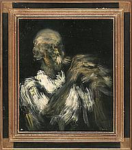"Ignacio García Ergüin Bilbao 1934 ""Alvin Alloan, Trumpet"" Óleo sobre tabla"