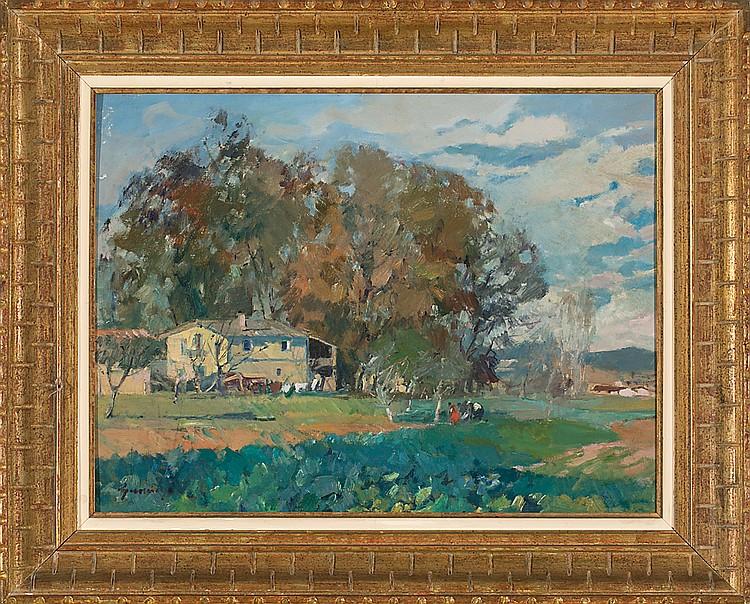 Pere Gussinyé Olot 1890 - 1980 Paisaje Óleo sobre lienzo