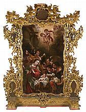 Juan de Valdés Leal Sevilla 1622 - 1690 La adoración de los pastores Óleo sobre lienzo