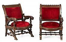 Francesc Vidal Jevellí Barcelona 1847 - 1914. Pair of armchairs