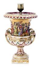 Jarrón en porcelana de Capodimonte, del primer tercio del siglo XX