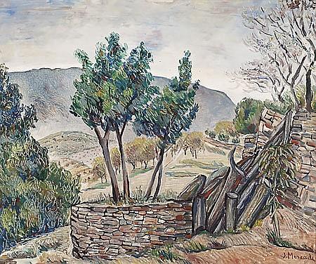 Jaume Mercadé Valls 1889 - Barcelona 1967 Paisaje Óleo sobre lienzo