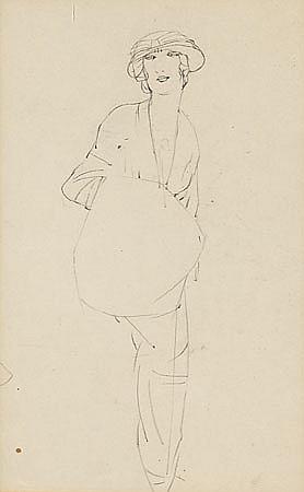 Xavier Gosé Lleida 1876 - 1915 Jóvenes Dibujo a lápiz sobre papel