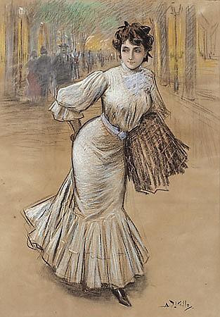 Antoni Utrillo Viadera Barcelona 1867 - 1944 Una joven Pastel sobre papel