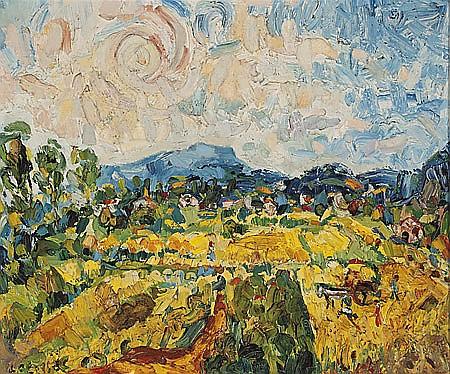 Joan Abelló Prat Mollet del Vallés 1922 - Barcelona 2008 Paisaje Óleo sobre lienzo