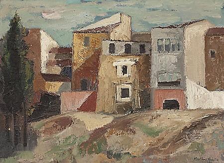 Cirilo Martínez Novillo Vallecas 1921 - Madrid 2008 Paisaje Óleo sobre lienzo