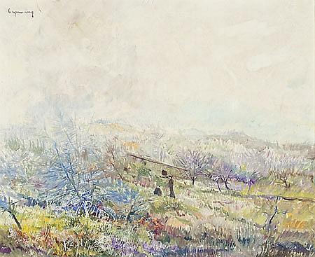 Ramon de Capmany Canet de Mar 1899 - 1992 Paisaje Óleo sobre lienzo