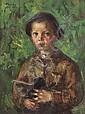 Juan Bautista Porcar Castellón de la Plana 1888 - 1974 Retrato de un niño Óleo sobre lienzo, Juan Bautista Porcar Ripollés, Click for value