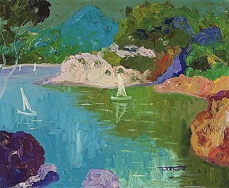 Casimir Martínez Tarrassó Barcelona 1898 - 1980 Costa Brava, Fornells Óleo sobre lienzo