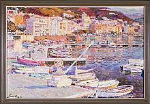 Jordi Freixas Cortés Barcelona 1917 - 1984 Vista de Port de la Selva Óleo sobre lienzo