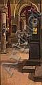 Mateo Balasch Sant Andreu de Palomar 1870 - Barcelona 1936 Interior de iglesia Óleo sobre tabla, Mateu Balasch, Click for value