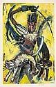 Ramón Aguilar Moré Barcelona 1924 Don Quijote y los gatos de Altisidora Acrílico y collage sobre cartón, Ramón Aguilar Moré, Click for value