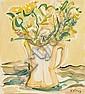 Hernando Viñes París 1904 - 1993 Flores Gouache sobre papel, Hernando Viñes, Click for value