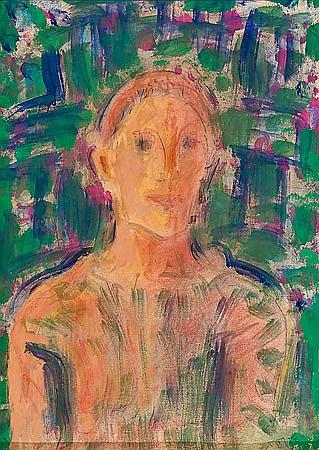 Pere Gastó Vilanova Barcelona 1908 - 1997 Busto de un joven Pastel y acrílico sobre papel