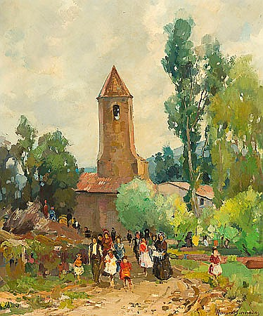 Ramón Barnadas. Olot 1909-1981. Rural view. Oil on canvas. Signed and dated in 1949. 61x50 cm