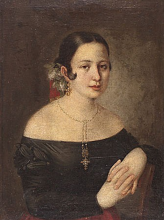 José Gutierrez de la Vega. Sevilla 1791- Madrid 1865. Portrait of a young lady, probably Antonia de Zárate. Oil on canvas. 68,5x50,5 cm
